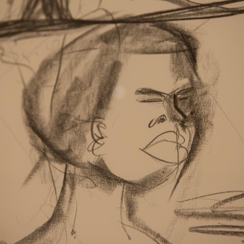 detail of Kara Walker's drawing